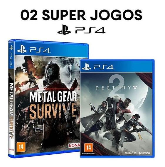 Metal Gear Survive + Destiny 2 Day One Ps4 - Mídias Lacradas