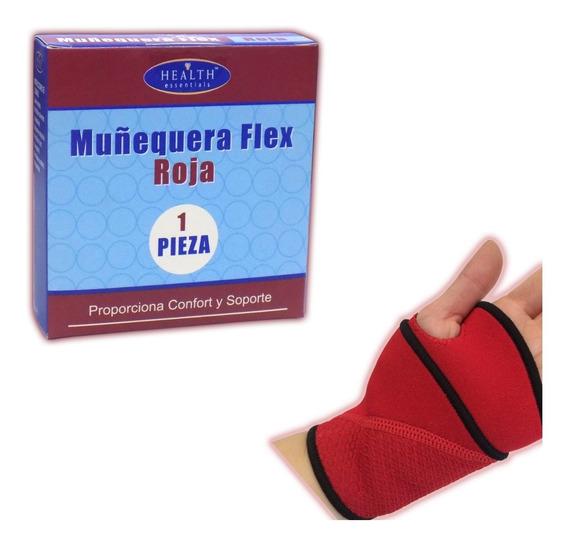 Muñequera Flex Roja Health Essentials
