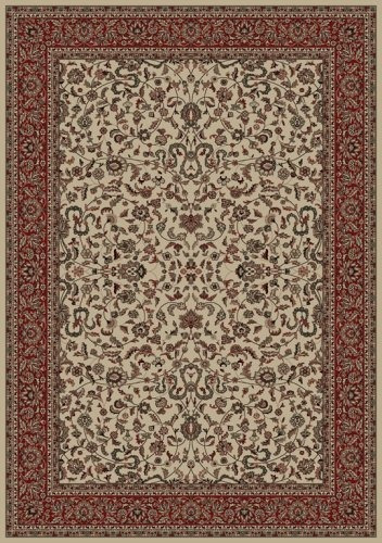 Oriental Classics Kashan Ivory Tapete De Vinilo Tamaño: Redo