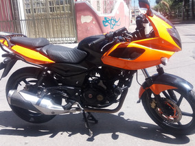 Pulsar 220f Negra Naranja
