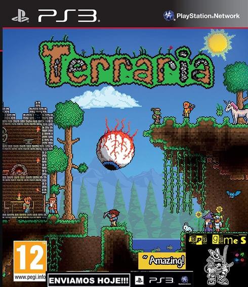 Terraria Jogos Ps3 Psn 505 Games Rpg De Ação Aventura
