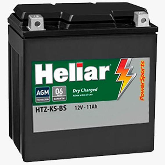 Bateria Moto Heliar Htz12sbs Powersports Selada 11ah 12volts
