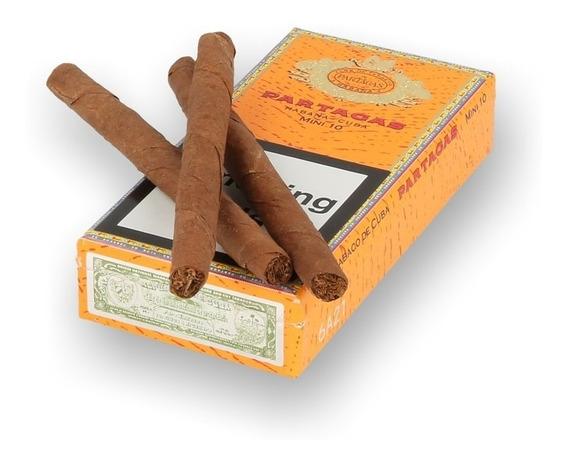 Habanos Mini 10 Partagas Fumar Cigarros Cubanos Caja Pack X5