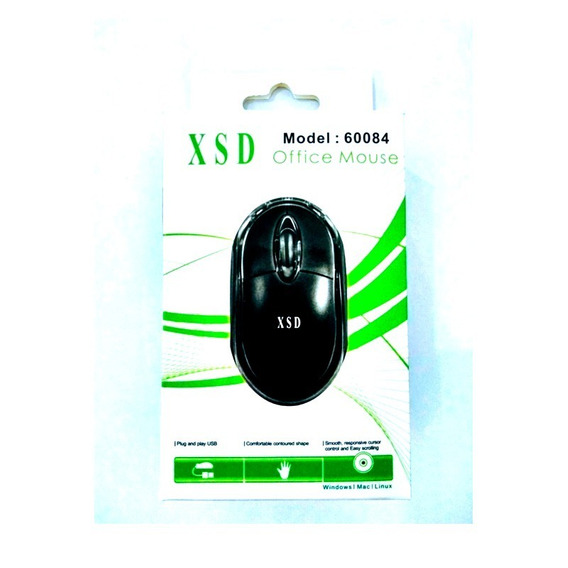 Mouse Óptico Com Fio Classico Xsd Preto Sensor