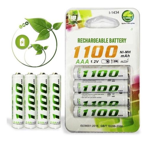 Pilas Baterias Recargables Aaa 1.2v 1100mah Blíster X4
