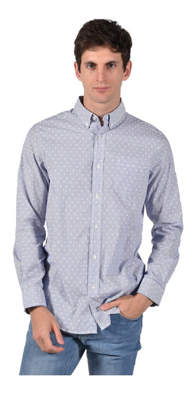 Camisa Stretch Fit Chaps Azul 750723001-33oy Hombre