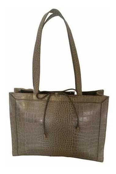 Bolsa Vintage Original Liz Clairbone Tipo Cocodrilo Gris