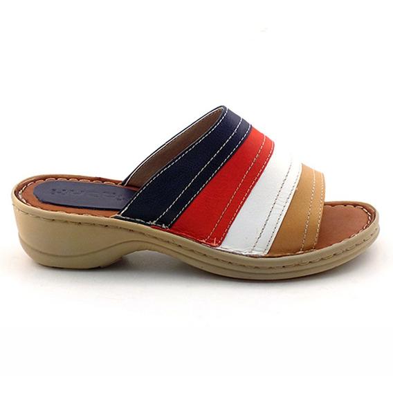 Chinela Mujer Cuero Briganti Sandalia Zapato - Mcch26028