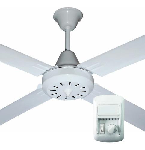 Ventilador Techo Practic-o 1,20m Chapa 4 Palas Blanco