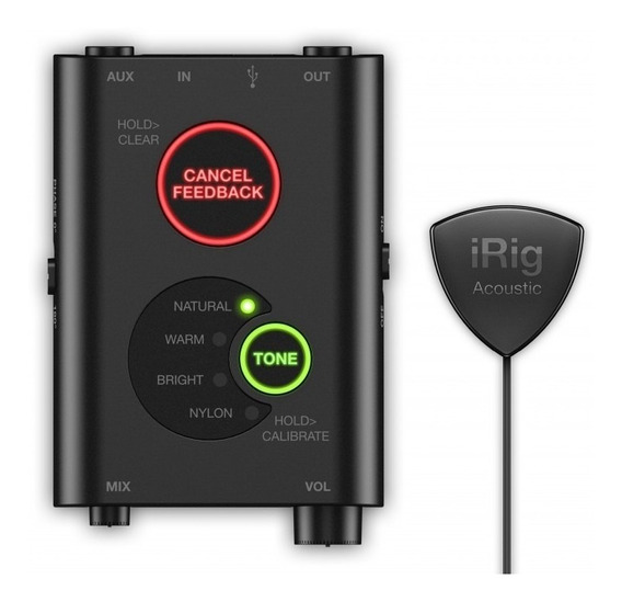Irig Acoustic Stage Ik Microfone Captador Violão Mac Pc Ios