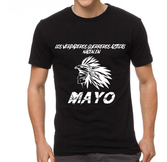 Playera De Fiesta Cleen Alexer Guerrero Azteca Nace Mayo5