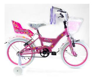 Bicicleta Slp Cathy Paseo Rodado 16 Niña Porta Muñeca Canast