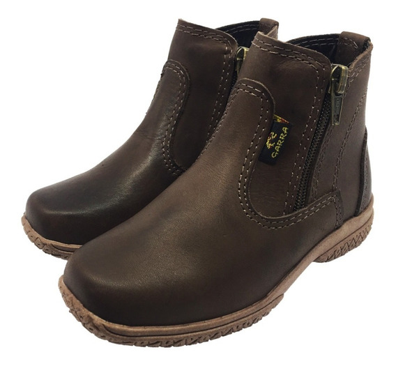 Botina Masculina Infantil Bota Country Kids Couro Texana