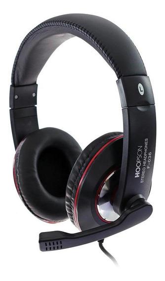 Headset Gamer Hoopson Com Microfone Usb Preto