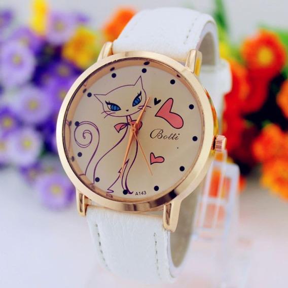 Relógio Meninas Mulheres Lindo Gatinho