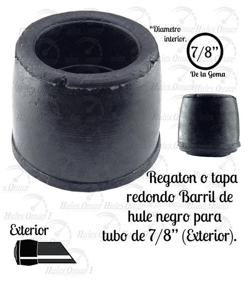 Tapon O Regatón Redondo Para Tubo 7/8 Externo De Hule