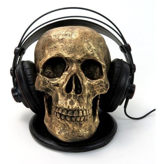 Cranio Caveira Esqueleto Suporte Headset Ou Fone De Ouvido