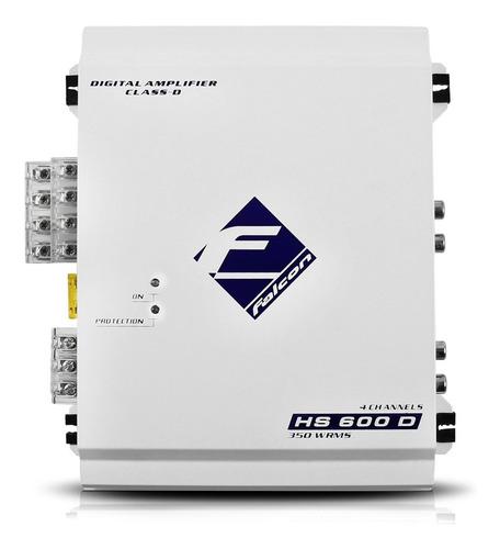 Módulo Amplificador Falcon Hs600 D Digital 350w Rms 4 Canais