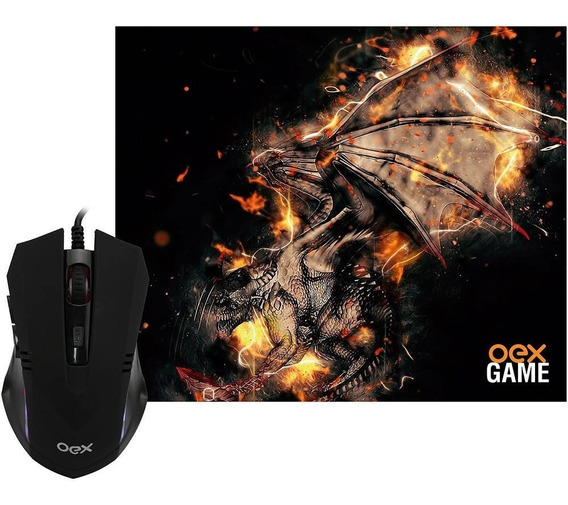 Combo Gamer Arena - Mouse Gamer 2.400 Dpi + Mousepad 290x230
