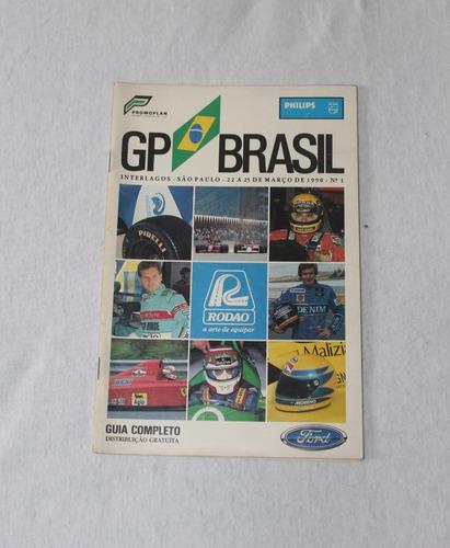 Revista Guia Oficial Do Gp Brasil De Fórmula 1 - 1990 - Nº 1