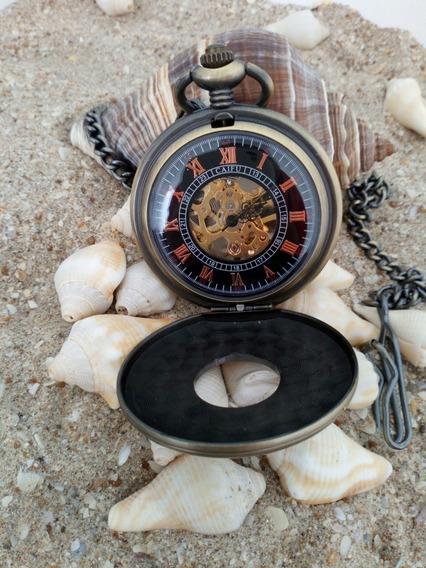 Reloj De Bolsillo Vintage De Cuerda