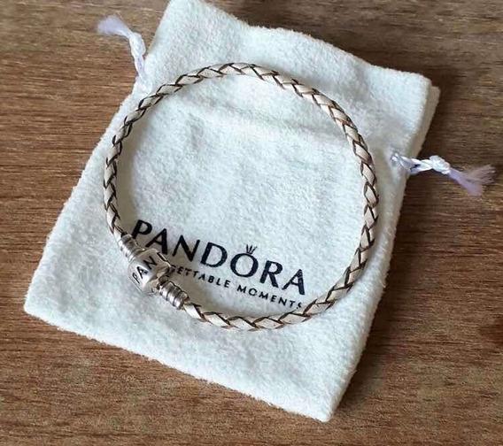 Pandora Couro Trançado Original
