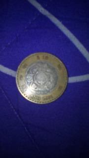 Moneda De 10 Pesos Del 2001 Rara