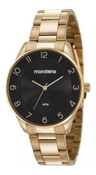 Relógio Mondaine Masculino Dourado Grande 53637lpmvde2 Lindo