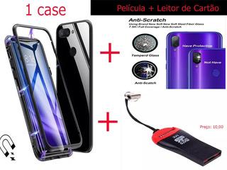 Capa Magnética Para Redmi Note 7 + Pelicula + Brinde