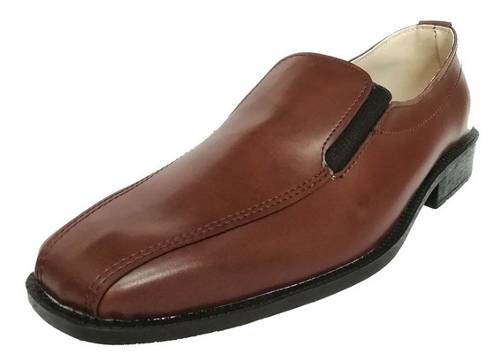 Zapatos Vestir S/ Cuero Hombre Elastico O Cordon