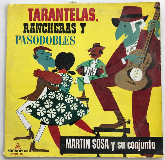 Disco Tarantelas Rancheras Y Pasodobles Martin Sosa Vinilo