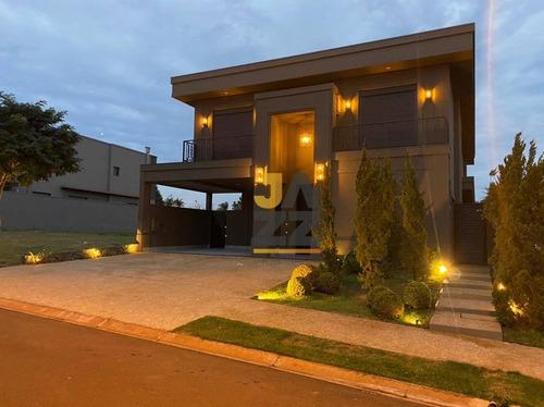 Imagem 1 de 30 de Casa Com 4 Dormitórios À Venda, 467 M² Por R$ 2.900.000 - Condomínio Bougainville - Ribeirão Preto/sp - Ca14474