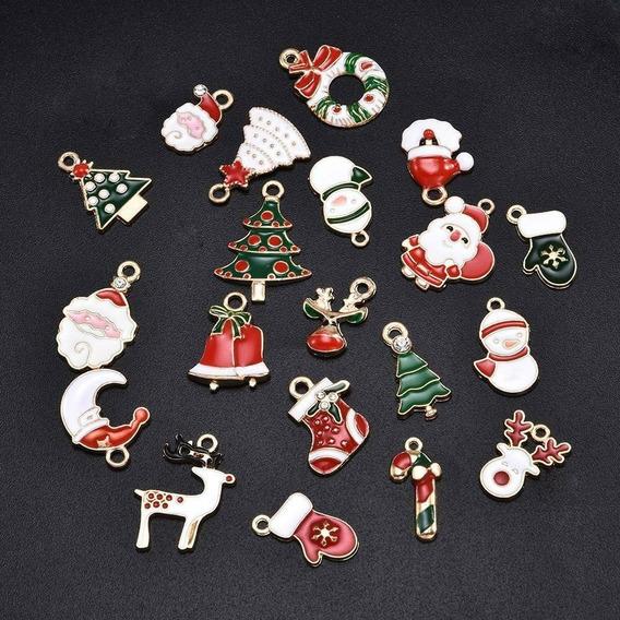 18 Dijes Para Armar Joyeria Navidad Renos, Arbol, Santaclaus