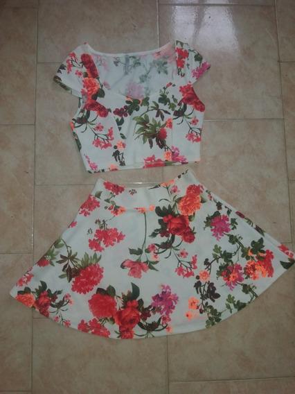 Vestido O Conjunto De Falda Y Crop Tops Para Dama