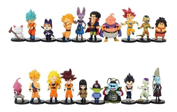Kit Dragon Ball Z 20 Figuras De Ação Bonecos Goku Vegeta