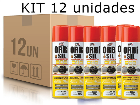 Kit 12 Silicones Líquido Spray Protetivo300ml Orbi 245