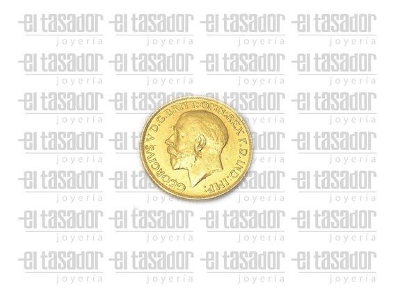 Moneda Libra Esterlina Oro 22 Kt *joyeriaeltasador*