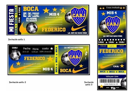 Kit Imprimible Boca Juniors Candy Bar Golosinas Tarjetas