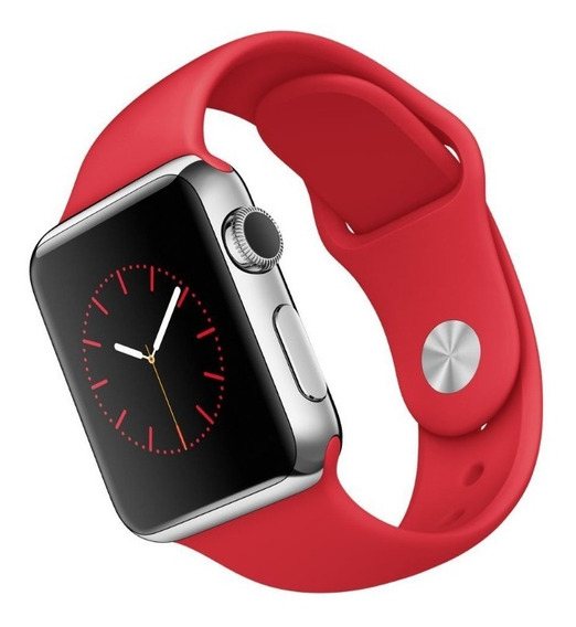 Correa Color Rojo Para Apple Watch 38mm 42mm Serie 1 2 3 4 5