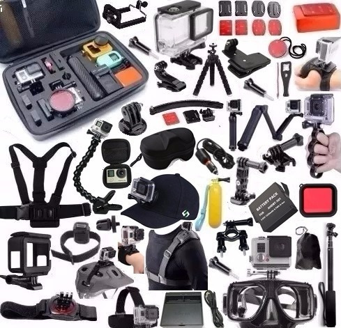Kit Para Gopro Hero 5 Hero 6 Hero 7 Black Bateria 3 Way