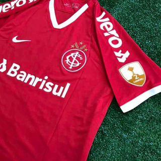 Camisa Inter Guerrero Libertadores Com Patchs E Patrocínios
