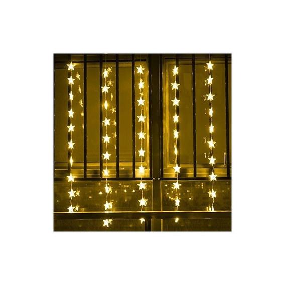Luces De Cortina De Estrella, Leorx 50 Led Luces De Cortina