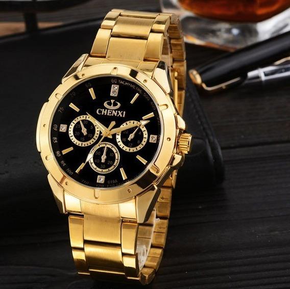 Kit C/ 2 Un. Relógio De Pulso Luxo Clássico Analógico Chenxi