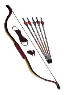 Arco Recurvo + Acessorios + 5 Flechas
