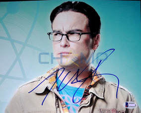 Foto Firmada Johnny Galecki Big Bang Theory Leonard Autograf