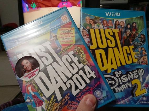 Jogos Wii U Just Dance 2014 + Disney Party 2 Novos Lacrados