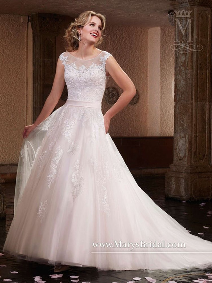 Vestido De Novia Marys Bridal Color Blush Talla 2