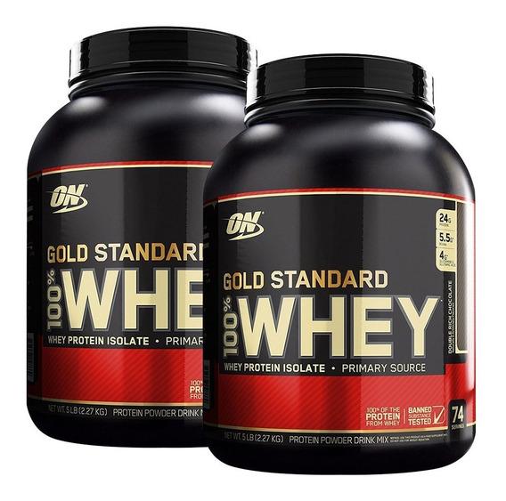 Whey Gold Standard 5 Lb X 2 Envases Optimum Nutrition