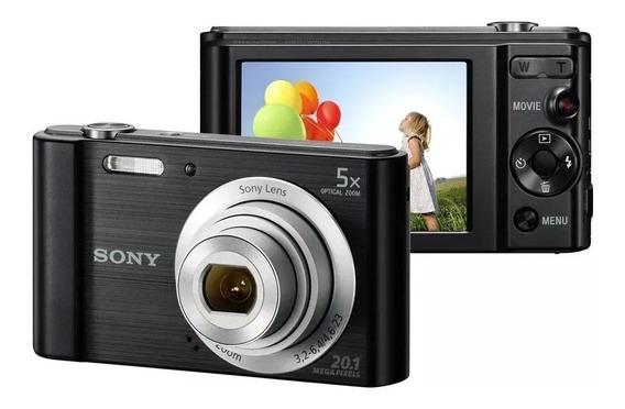 Câmera Digital Sony Dsc W800 20.1mp 5x Com Case