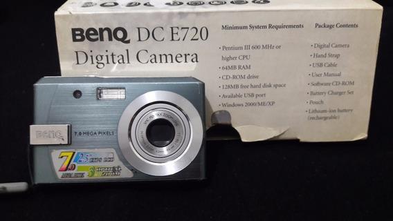 Câmera Digital Benq 7 Mp Manual, Nota Fiscal E Acessórios